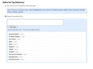 Tag Dictionary