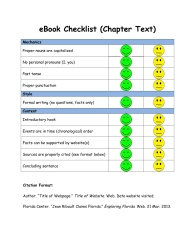 eBook Checklist