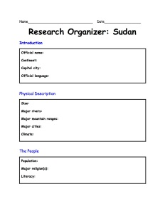 OrganizerSudanResearch