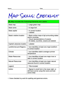 ChecklistGeoLiteracyMapSkills4th