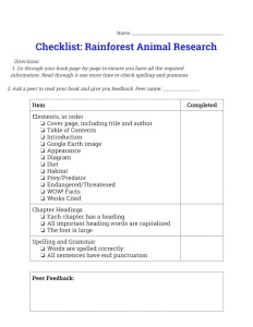 checklistrainforestanimalresearch